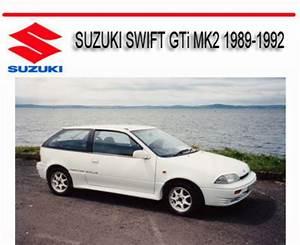 Suzuki Swift Gti Mk2 1989-1992 Service Repair Manual