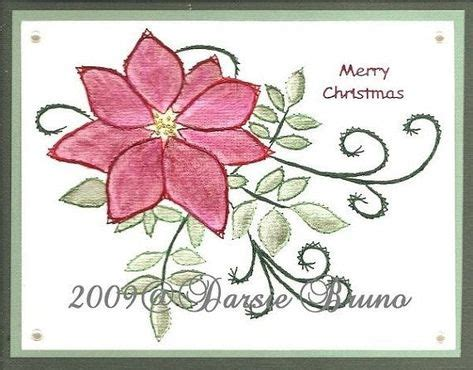 christmas poinsettia paper embroidery pattern  greeting