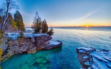 lake michigan largest states united america travel