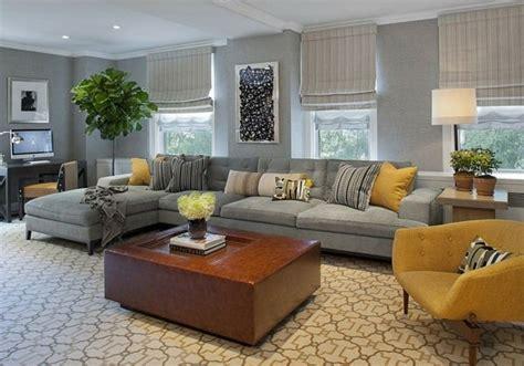 idee deco salon canapé gris deco salon gris et jaune