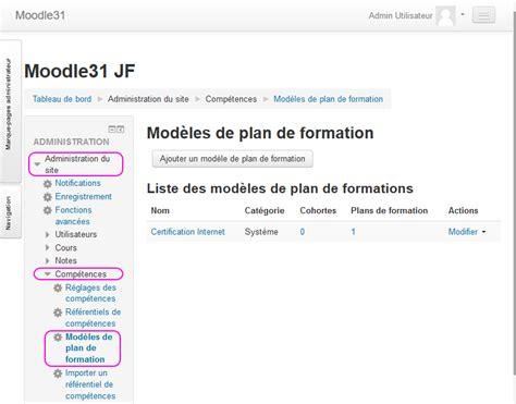 modèle plan de formation plans de formation moodledocs