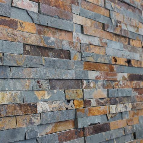 rustic slate mini split z panel 600x150x8 13