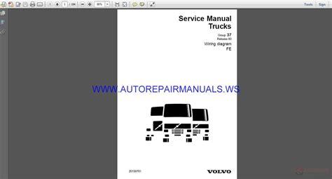 volvo trucks fe wiring diagram service manual auto repair manual forum heavy equipment