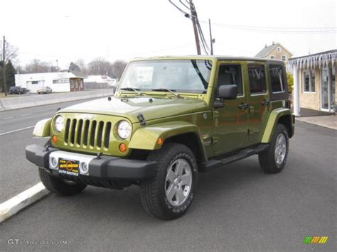 jeep metallic 2008 rescue green metallic jeep wrangler unlimited sahara