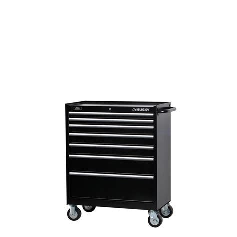 home depot tool cabinet husky 34 in w 7 drawer tool cabinet black h347tr the