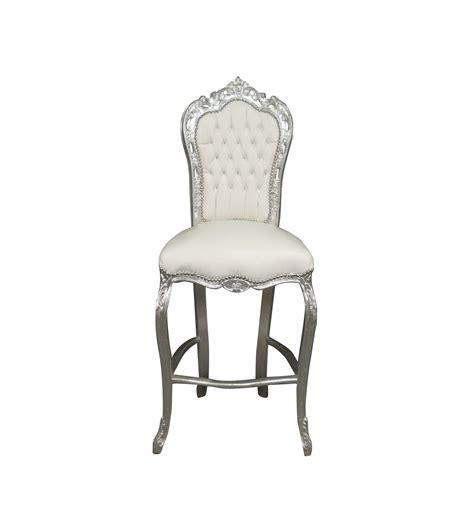 chaise de bar blanche chaise baroque de bar blanche meuble baroque