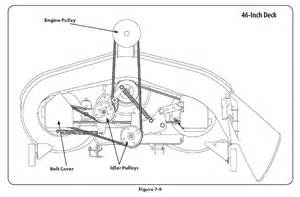 mtd 46 inch drive belt diagram how to change drive belt mowing deck on mtd mower