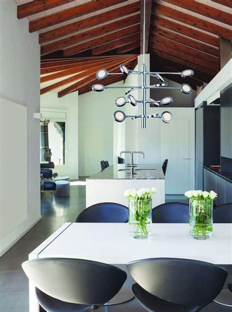 eclairage cuisine suspension re lumineuse led cuisine audessus des meubles hauts