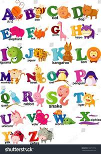 The Animals That Start with the Letters in Alphabet