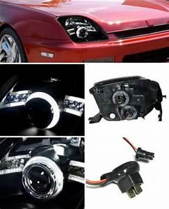 2000 Honda Prelude Led Lights Honda Prelude 1997 2001 Jdm Black Ccfl Halo Projector