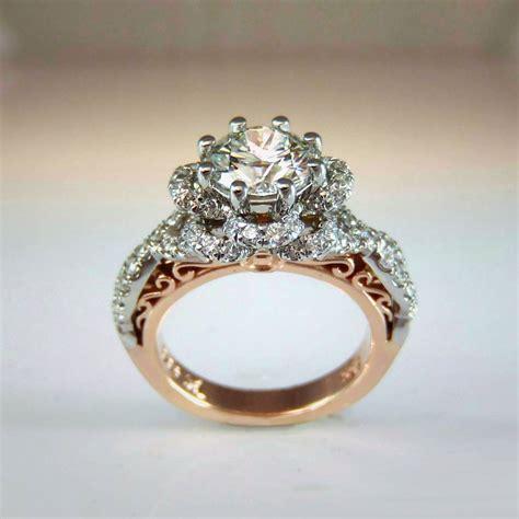 platium rose gold diamond ring