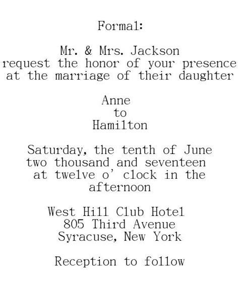Wedding Invitation Wording Couple And Parents Hosting