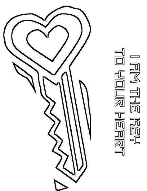 key coloring page keyhole coloring coloring pages