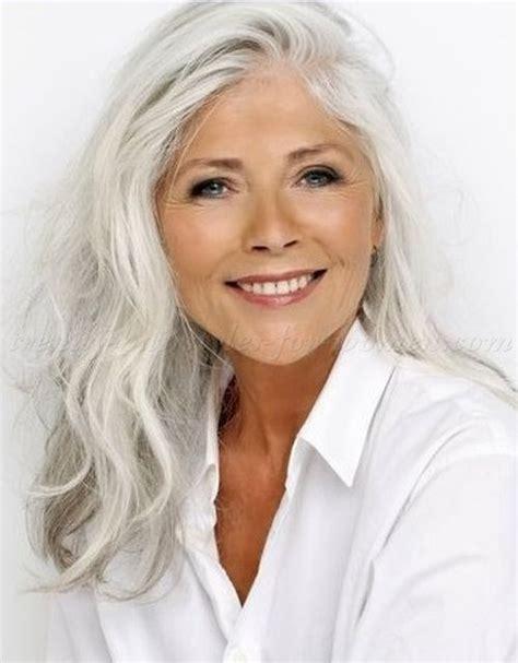 long grey hairstyles long hairstyle for grey hair Long