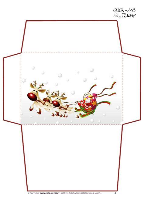 santa envelope template printable christmas printables