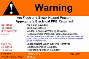 Custom arc flash warning label printing for Custom arc flash labels
