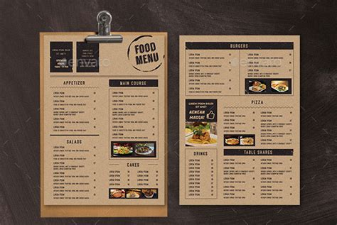 modern retro vintage restaurant menu templates bashooka