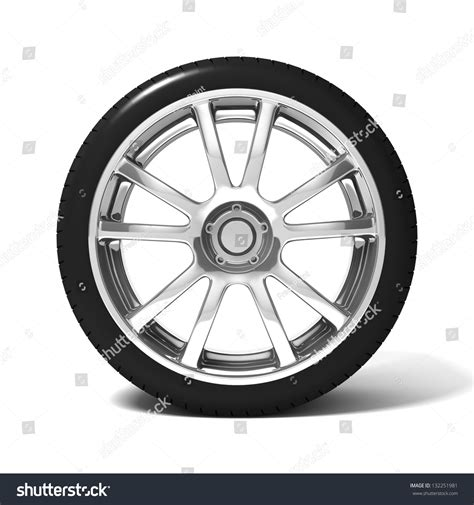 Car Wheel Tire Isolated On White Stock Illustration