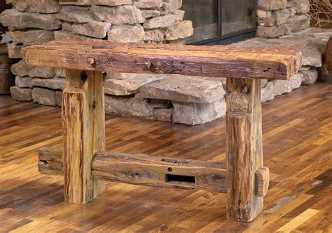 rocky mountain sofa table rustic furniture mall