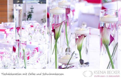 tischdekoration hochzeit glasvasen mit callas table