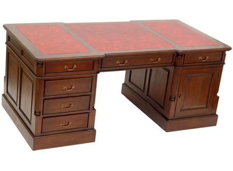 le de bureau style anglais bureau de style anglais 180 cm en acajou avec sous