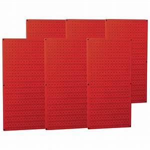 Wall, Control, Industrial, Metal, Pegboard, U2014, Red, Six, 16in, X, 32in, Panels, Model, 35