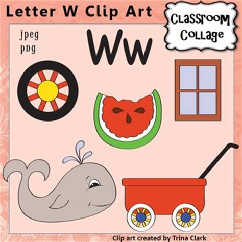 a color that starts with a alphabet clip letter w items start with w color