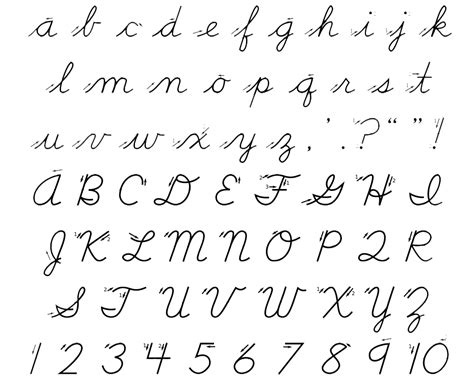 Learning the cursive alphabet is the best guide to cursive writing. 10 Best Images of Old-Style Cursive Writing Worksheets - Palmer Cursive Handwriting Alphabet ...