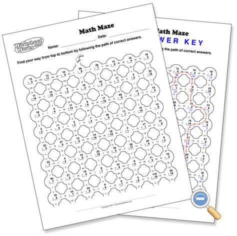 math maze worksheetworks com education math division