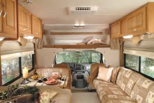 motor home interiors interior picture of the front of a luxury class c motorhome monty 39 s rv cing pictures