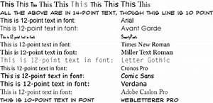 Font Point Size Chart Hue What Readability Of Type In Colour Effect Of Font Size