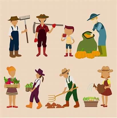 Farmers Farmer Vector Tools Farming Graphic Illustration