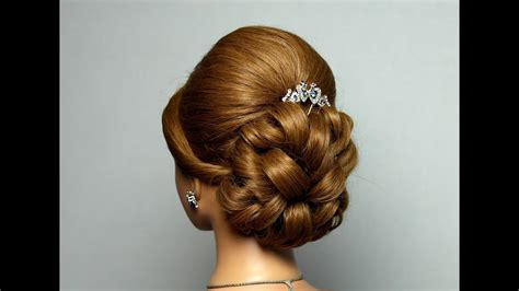 wedding prom hairstyle  long hair bridal updo youtube