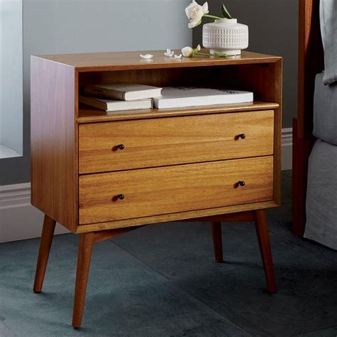 Bedside Tables by Mid Century Bedside Table Grand West Elm Australia