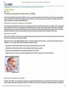 Temporomandibular Joint Disorders  Tmj  By Shane Lirette
