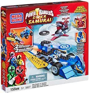 Amazon.com: Mega Bloks Power Rangers Samurai Blue Ranger ...