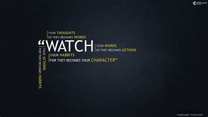 Quotes Knowledge Wallpapers Dark Margaret Thatcher Rules