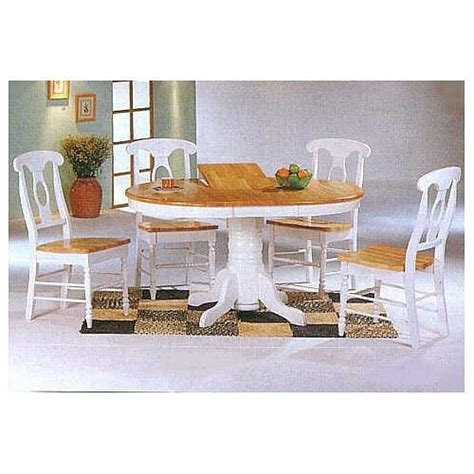 5pc white oval dining table napoleon solid
