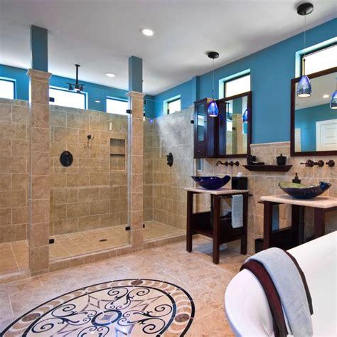 open concept bathroom showers   embrace  design