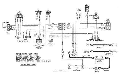 dixon ztr 5502 1997 parts diagram for wiring assembly