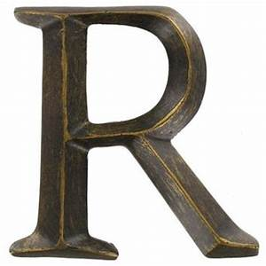 4quot bronze polystone letter r shop from hobby lobby epic With bronze letters hobby lobby