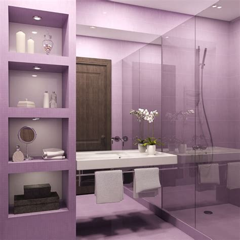Bathroom Design In Purple Tones And Shades by Modern Bathroom Colors 50 Ideas How To Decorate Your