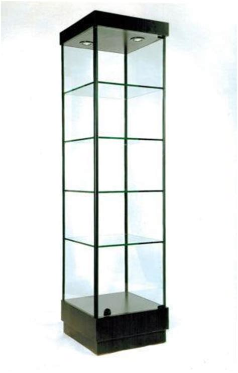 used lockable glass display cabinets tower display case ebay