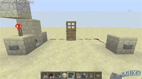 Minecraft Monostable Circuit Compact For Fast Pulses