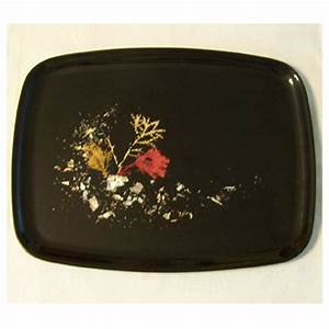 Vintage Couroc Of Monterey Tray Abalone Coral Seaweed