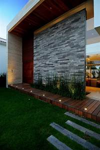 I Love The Grasses Along The Wall And The Long Rectangular Stepping Stones
