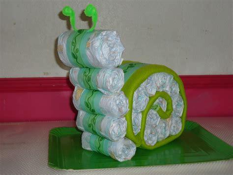 caracol de pañales verde Decoraciones Pinterest