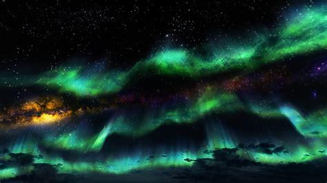 Hd Wallpaper Northern Lights Bilder The Elder Scrolls V Skyrim Polarlicht Spiele 1920x1080