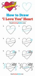 How To Draw An  U0026quot I Love You U0026quot  Heart