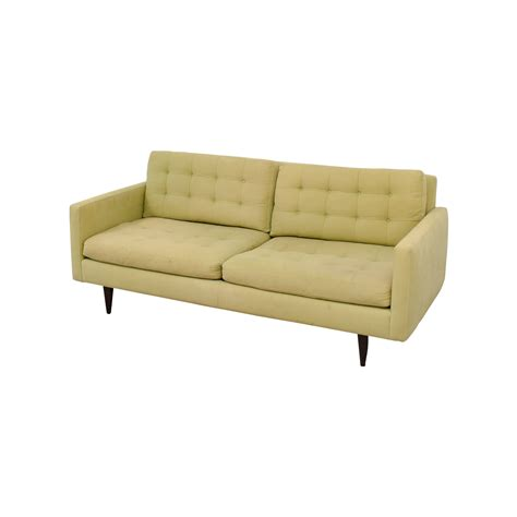 best crate and barrel sofa 77 off crate barrel crate barrel petrie pale green